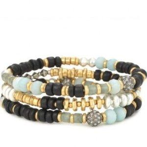 :: Stella & Dot [3] Artisan Stretch Bracelets